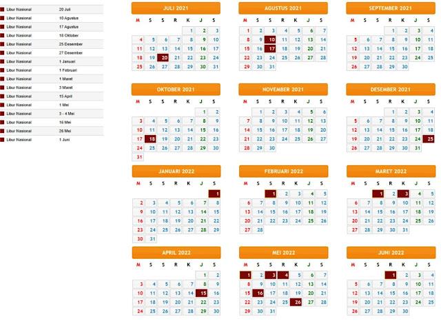 Kalender Pendidikan 2021/2022 Provinsi Aceh