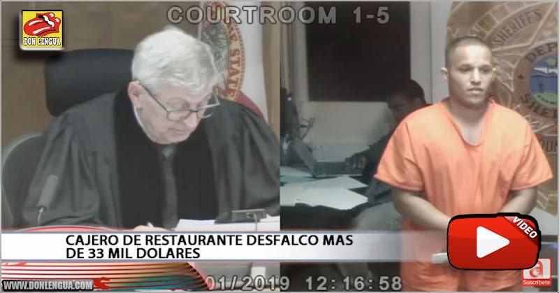 Venezolano en Miami se robó 33.000 dólares mientras trabajaba como cajero
