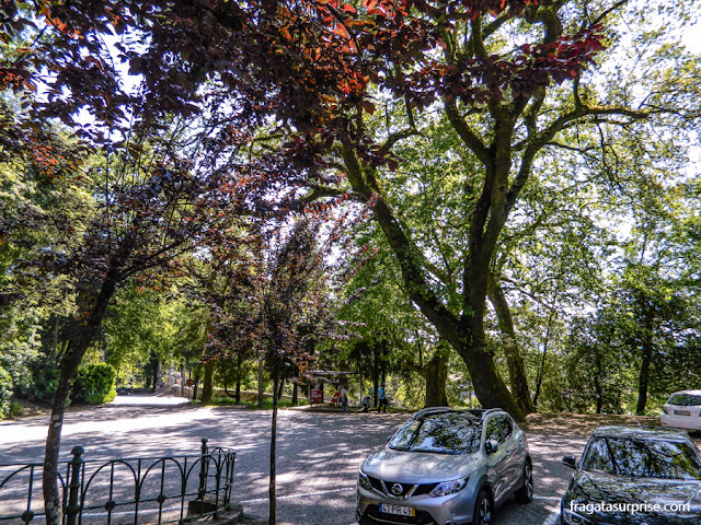 O estacionamento no Santuário de Bom Jesus do Monte, Braga, Portugal