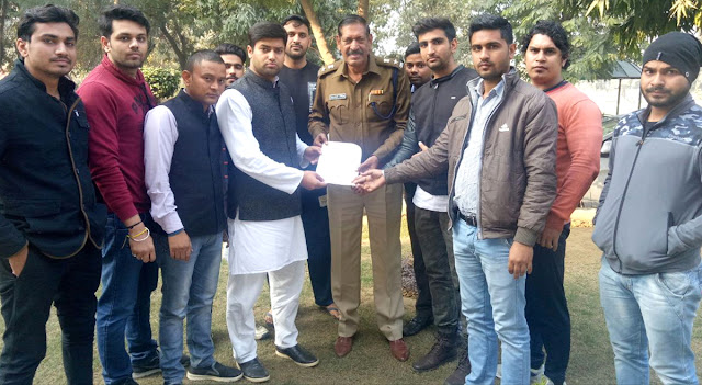 Memorandum to DCCP Crime handed down by young Congressmen under the leadership of Nalin Hooda