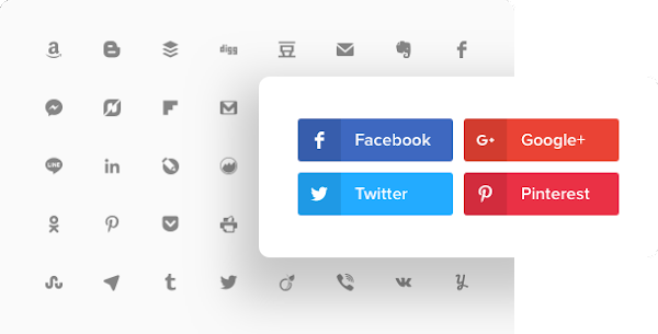 Кнопки Соцcетей для сайта