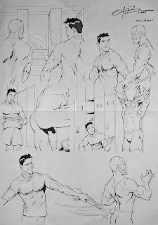 MALE DRAWING ART BLOG : CARLOS GARCIA / CHAZ DRAWING