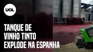Tanque de vinho tinto explode – TikTok nos EUA