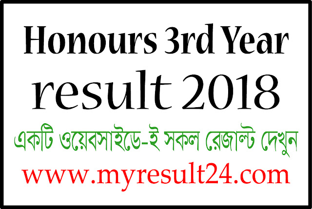 Honours 3rd year result 2018