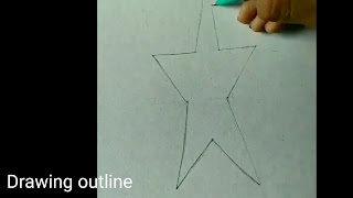 how to draw, 3d drawing of star, step by step tutorials