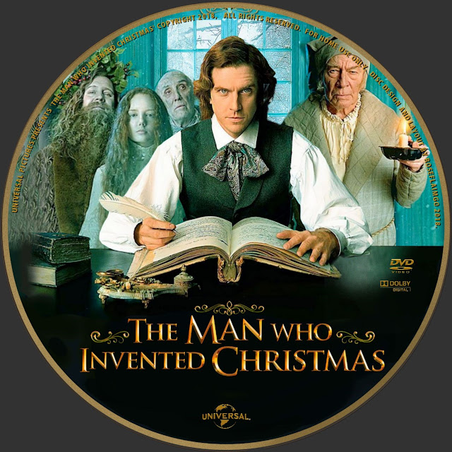 The Man Who Invented Christmas DVD Label