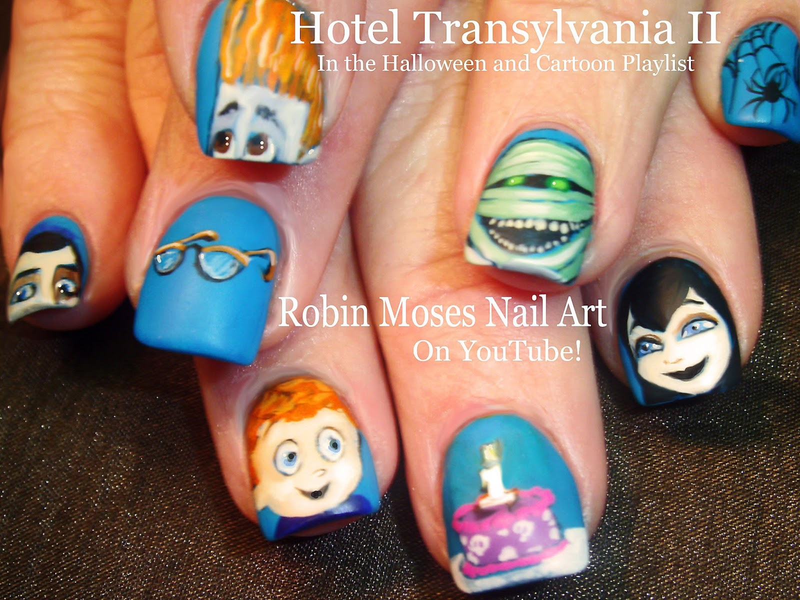Nail Art by Robin Moses: HOTEL TRANSYLVANIA 2 Nails! \