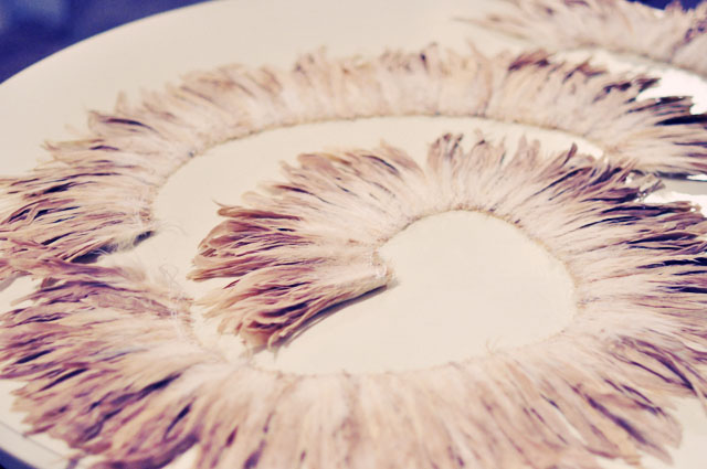 Circular Feather Wall Art - juju hat decor on pinterest ...