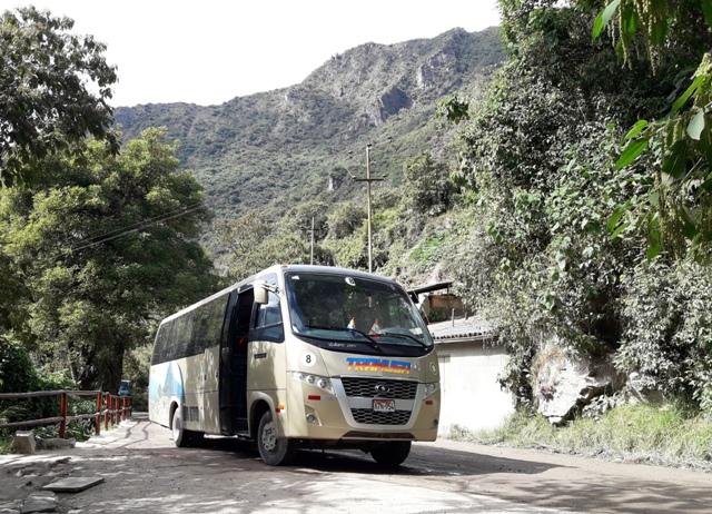 autobus de aguas calientes a machu picchu