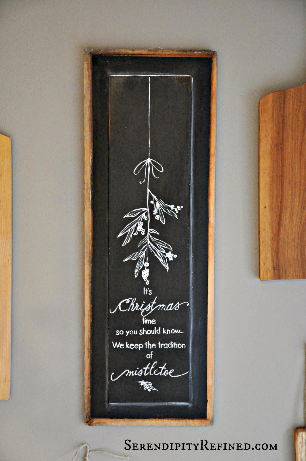 Serendipity Refined Blog: Christmas Chalkboard Wall Art