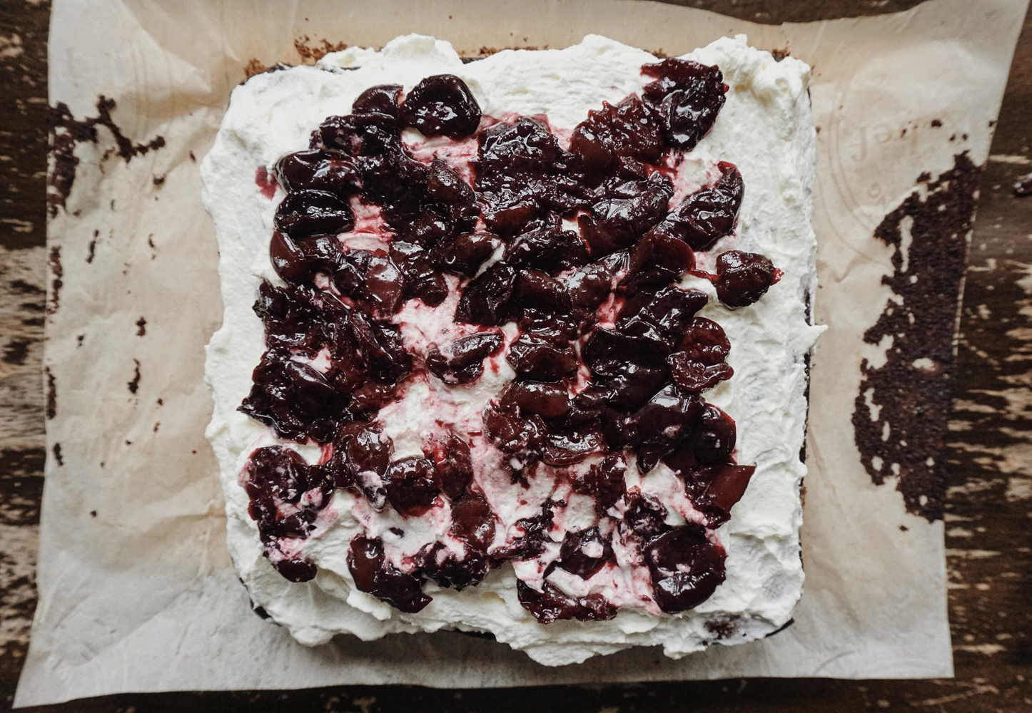 For the Sweet Tooth: Black Forest Cake. Read it on www.itsalamb.com #BlackForestCake #Baking #Food #Ontheblog