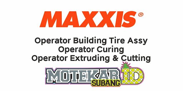 Lowongan Kerja Operator PT Maxxis International Maret 2021 - Motekar Subang