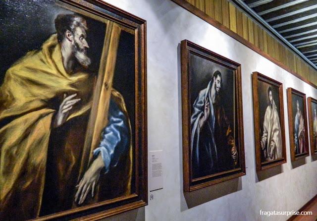 """""""Apostolado"""" pintado por El Greco, Museu Casa de El Greco, Toledo, Espanha"""