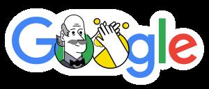 Ikon Google berisi pesan corona