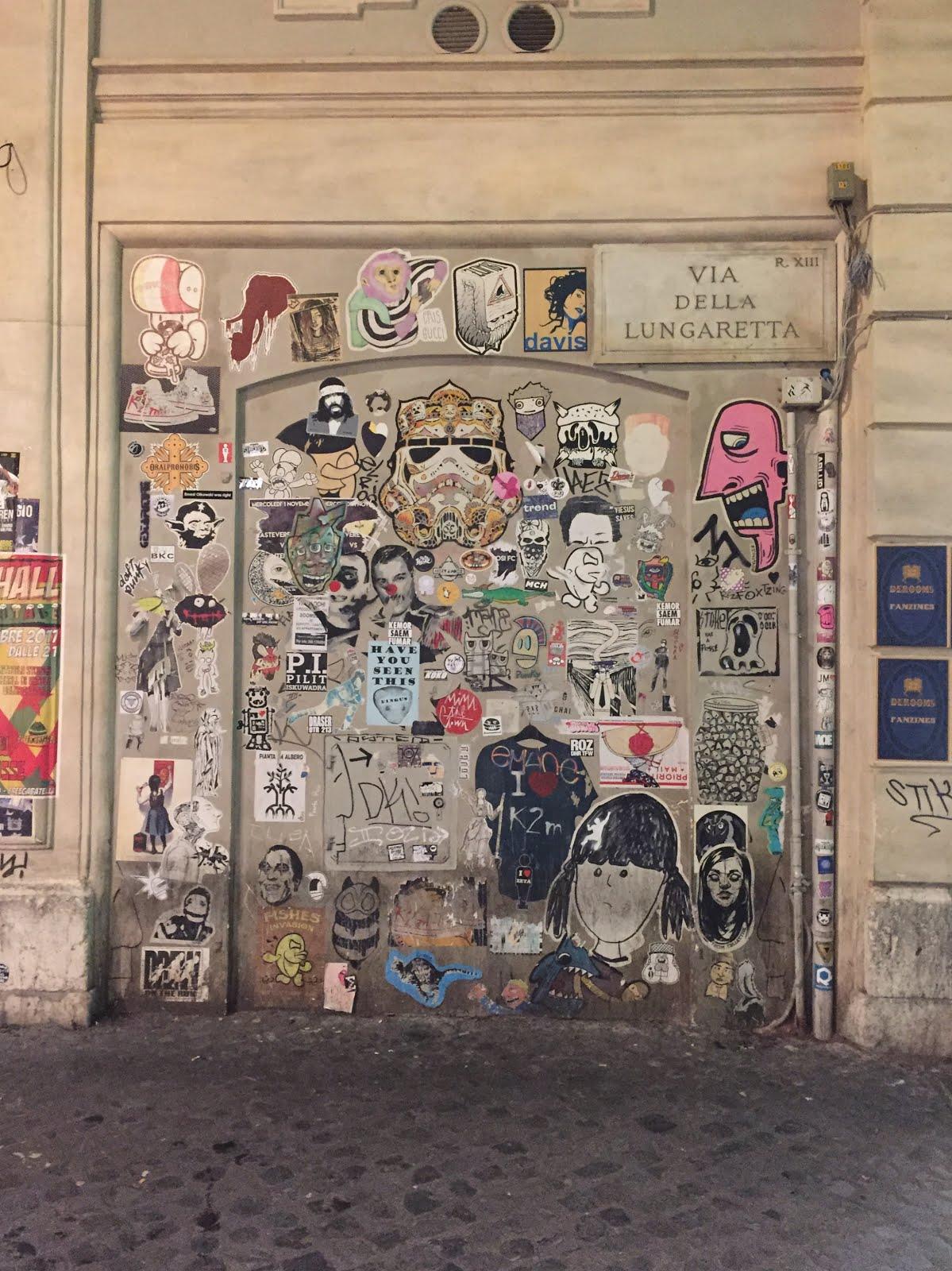 street art du quartier de trastevere à rome