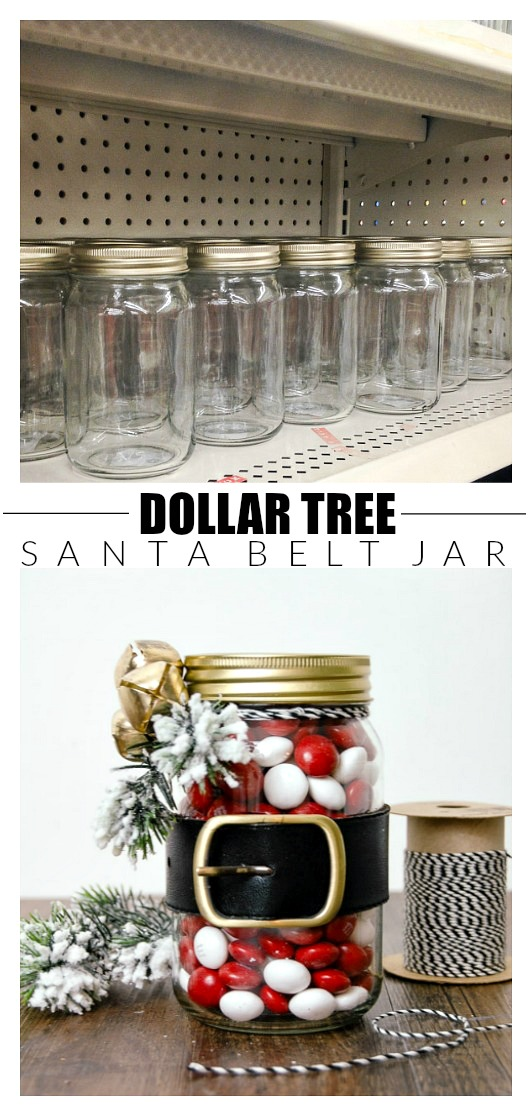 Dollar Tree Santa belt candy jar