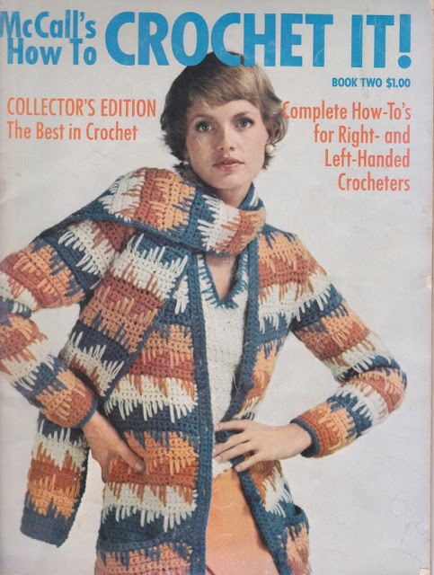 The Vintage Pattern Files: Free 1970's Crochet Pattern - Sweater and Scarf Set