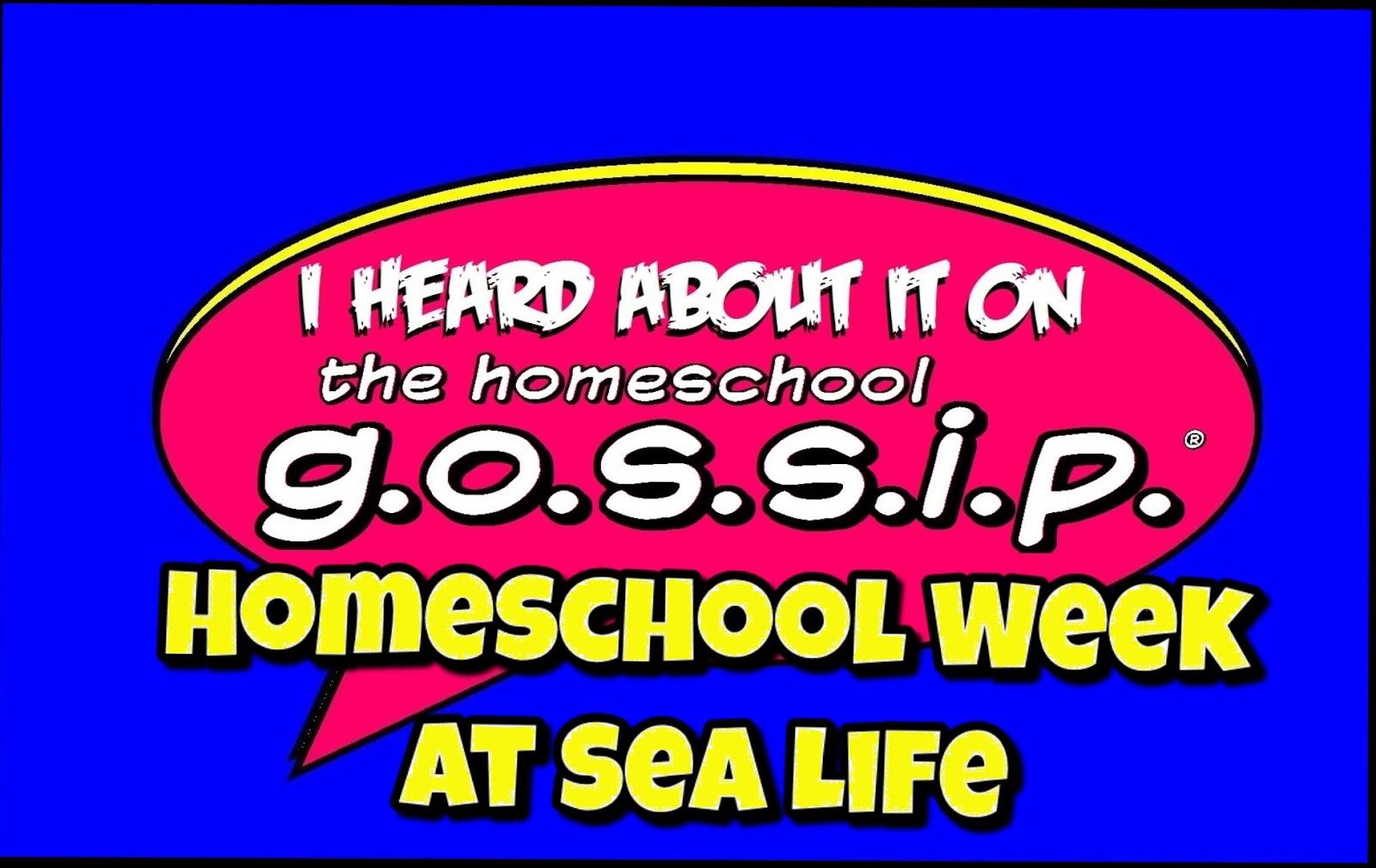 The Homeschool Gossip Homeschool Week At Sea Life