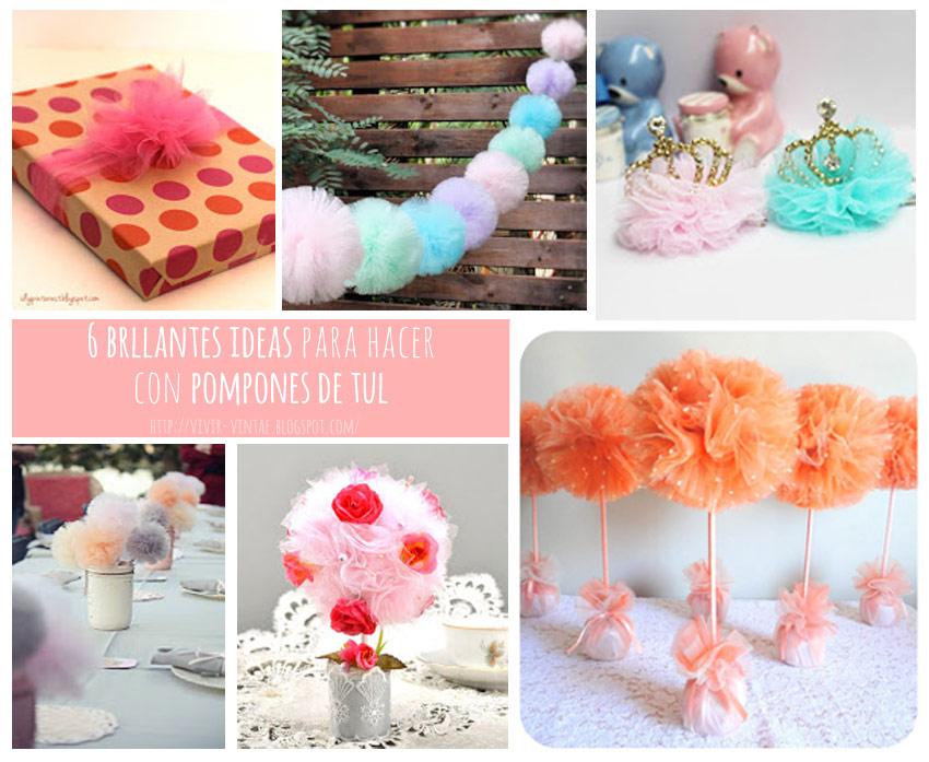 ideas con pompones de tul