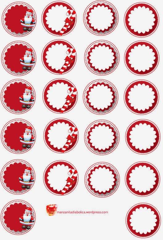 Etiquetas y toppers de Santa Claus para Imprimir Gratis. | Ideas y ...