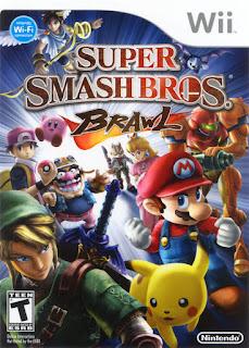 Portada del DVD de Super Smash Bros.: Brawl para la  Wii (2008)