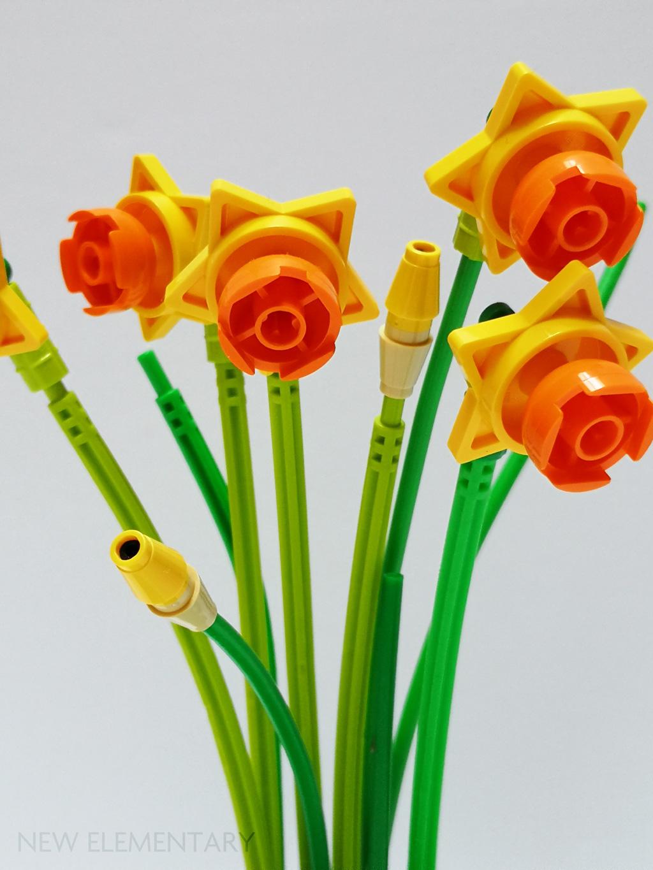 Lot of 15 STEMS New LEGO Green Plants FLOWER 3