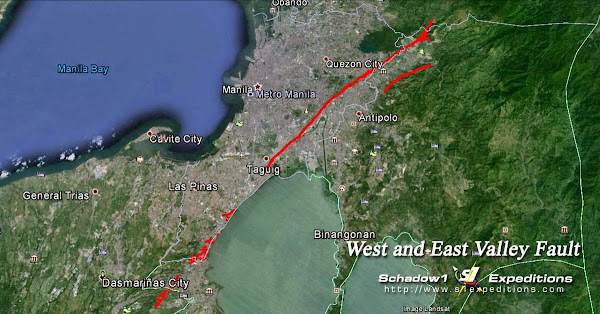 Interactive Map for the West and East Valley Fault Line on