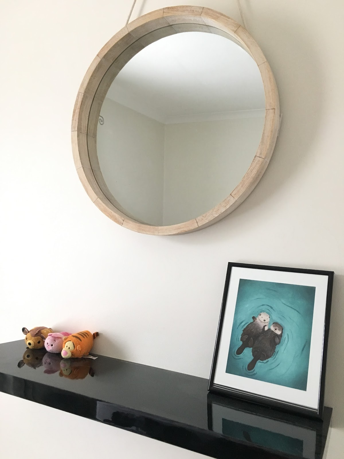 Sweet allure my bedroom makeover wishlist 2016 interiors Scandinavian design mirror tsum tsum otters print frame