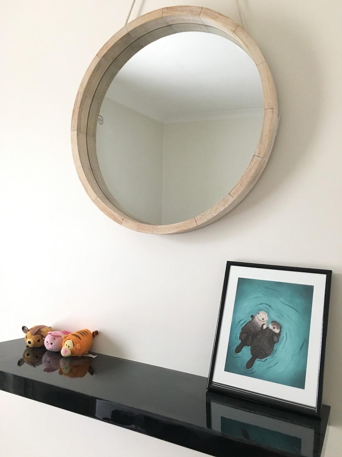 Sweet allure my bedroom makeover wishlist 2016 interiors Scandinavian design mirror tsum tsum otters print frame