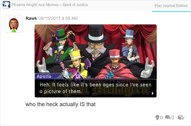 Phoenix Wright Ace Attorney Spirit of Justice Troupe Gramarye Magical Menagerie