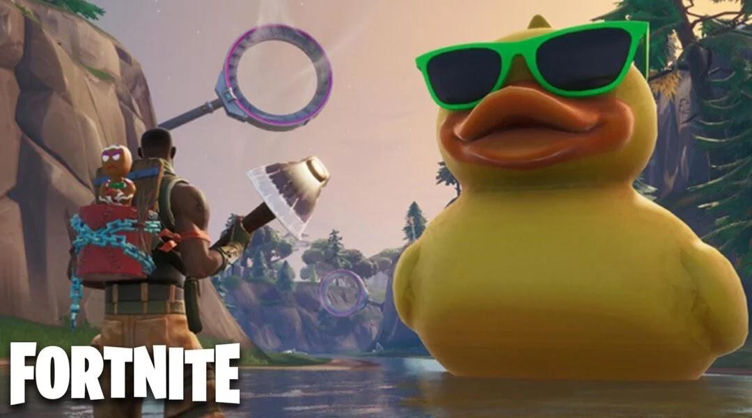 fortnite-giant-rubber-ducky-umbrella-challenge