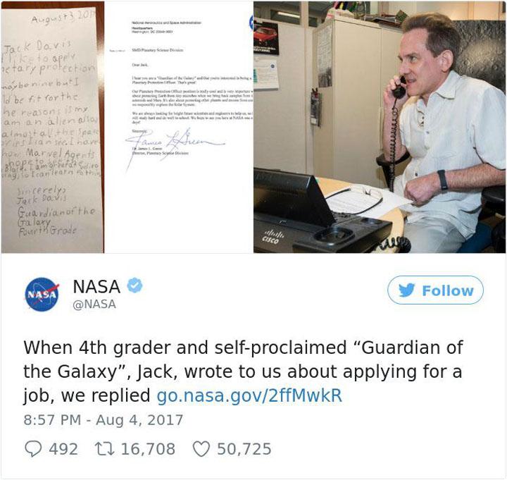 Budak Lelaki 9 Tahun Mohon Kerja di NASA