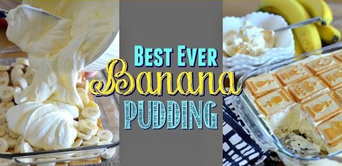 Best Ever Banana Pudding #desserts #pudding