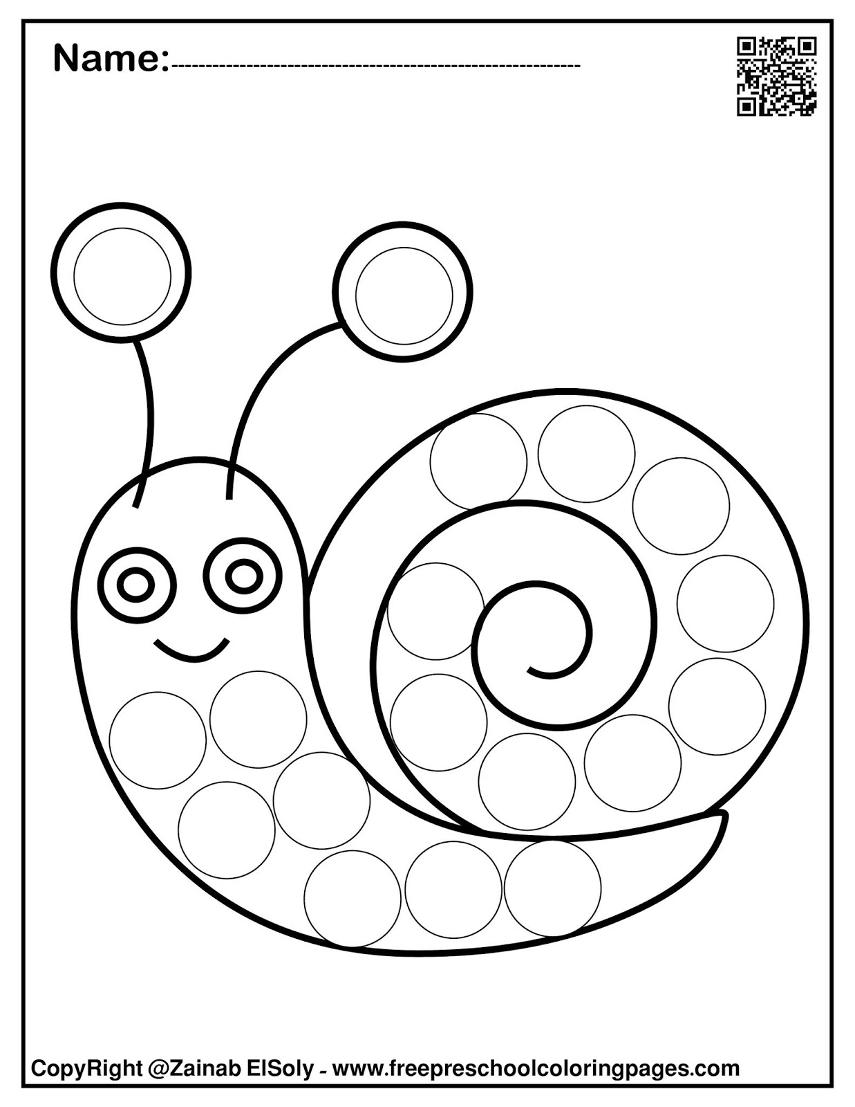 Set Of Spring Dot Marker Free Coloring Pages