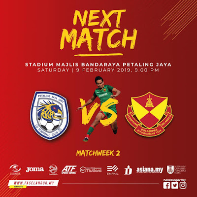 Live Streaming Petaling Jaya City vs Selangor Liga Super 9.2.2019