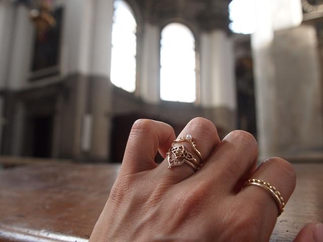 ヴェネツィアの旅からうまれたリング