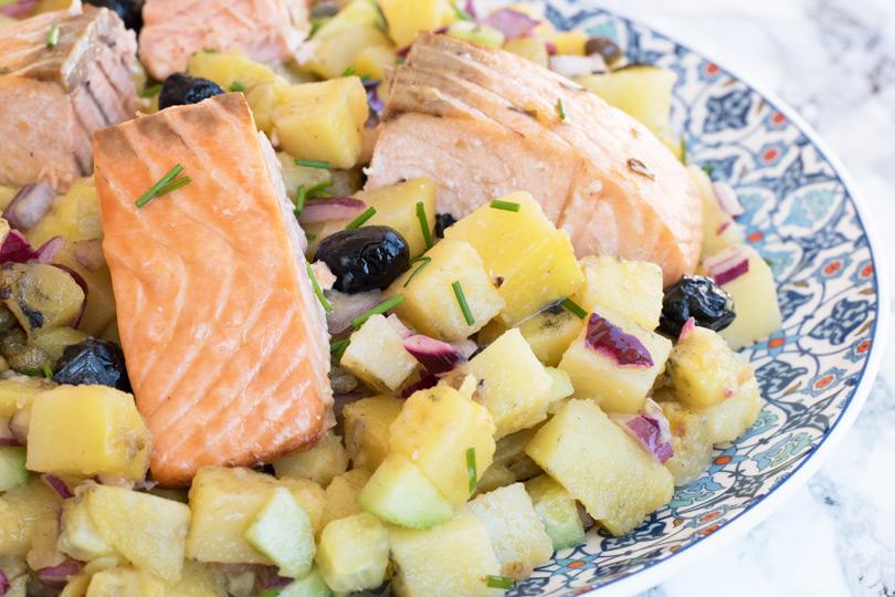 recette Salade pommes de terre saumon
