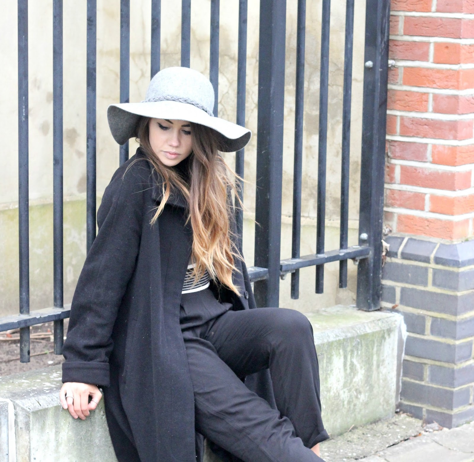 black and white outfit, monochrome, copper garden, high street lookbook
