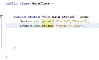 Menformat String dengan Printf Java 4
