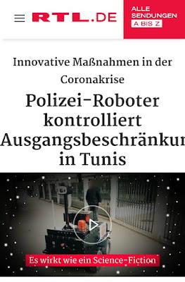تقرير قناة RTL حول الروبوت التونسي PGuard