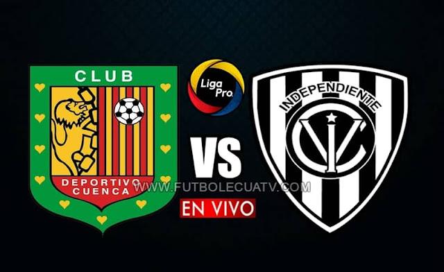 Deportivo Cuenca recibe a Independiente del Valle en vivo a partir de las 16h30 hora local, por la fecha 13 del campeonato ecuatoriano, siendo emitido por GolTV Ecuador a efectuarse en el campo ASA Banco del Austro. Con arbitraje principal de René Marín.
