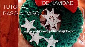 Cómo tejer una corona a crochet para decorar en Navidad | Tutorial