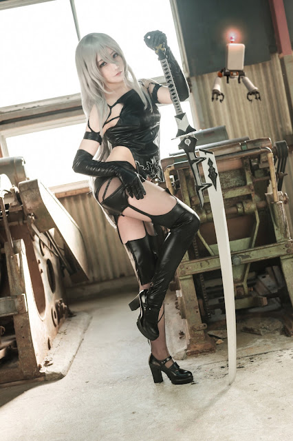 Matsuna cosplayer cantik nier automata
