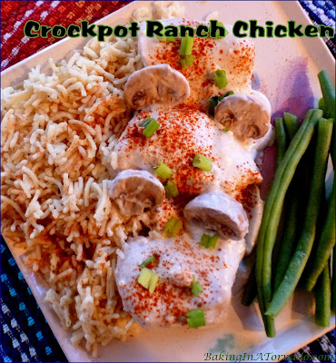 Crockpot Ranch Chicken, mix and cook, it's that easy to put a flavorful dinner on the table. | Recipe developed by www.BakingInATornado.com | #recipe #dinner