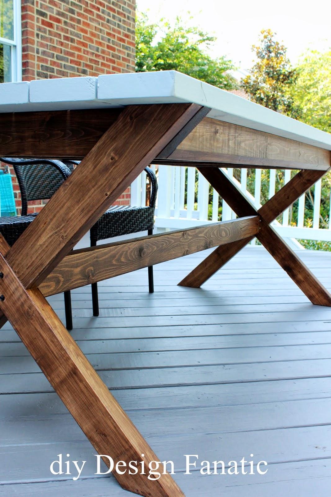 Diy Design Fanatic Pottery Barn Inspired Picnic Table - Pottery barn picnic table
