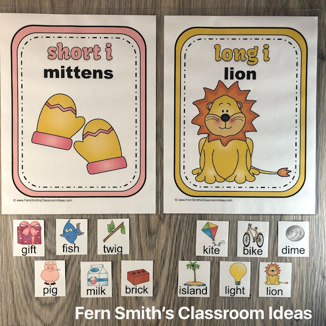 Click Here to Download These Center Games and Worksheets for Long Vowels & Short Vowels Today!