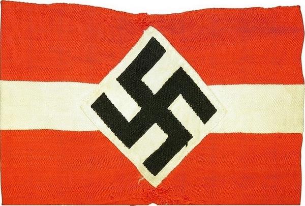 Drapeau nazi - photo du site web Espenlaub Militaria