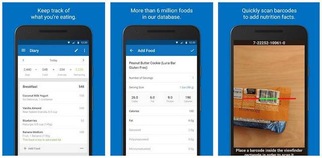 Aplikasi Calorie Counter - MyFitnessPal