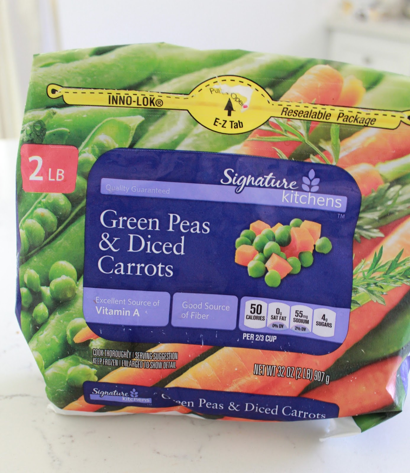 egyptian style peas and carrots