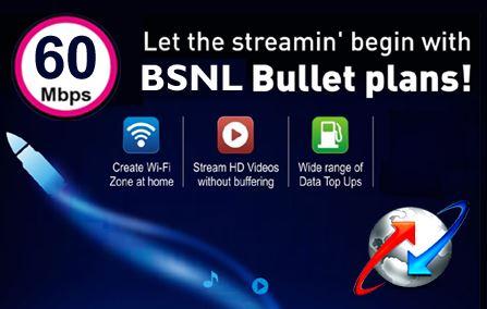 BSNL Bangalore 60Mbps Broadband Plans on FiberNet